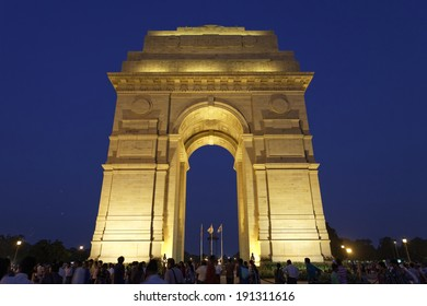 India Gate in New Delhi:September 26,2011, India (commemoration of the 90,000 soldiers of the British Indian Army who lost their lives in British Indian Empire)