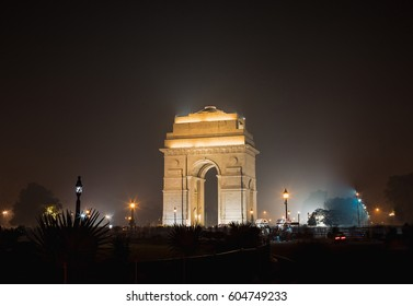 India Gate at Night. New Delhi.