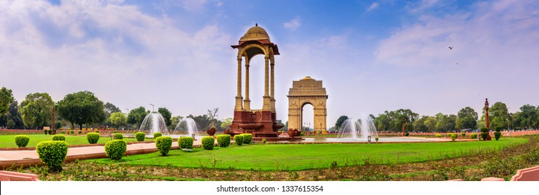 "The India Gate (originally called the All India War Memorial) is a war memorial located astride the Rajpath, on the eastern edge of the ""ceremonial axis"" of New Delhi, India, formerly called Kingsway."