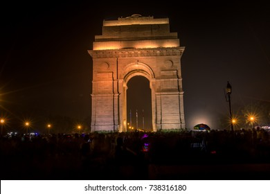 The India Gate, is a war memorial in New Delhi, India