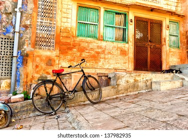 India. Indian street in Rajasthan