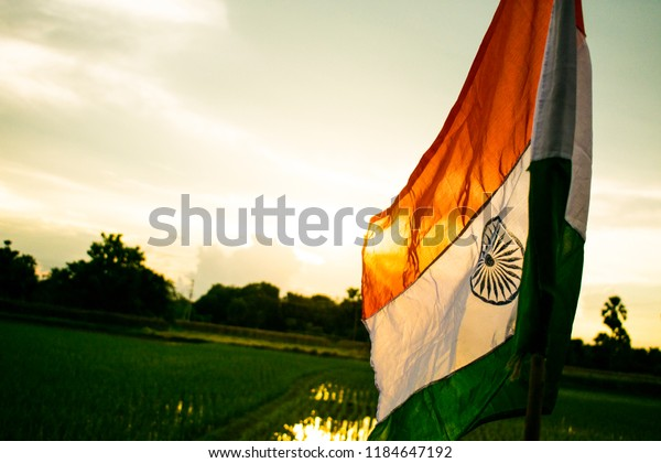 India National Flag Wallpaper Stock Photo Edit Now 1184647192
