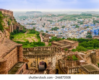 India, panoramic view of Jodhpur from Mehrangarh fort