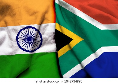 India and South Africa flag together