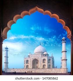 India Taj Mahal palace, Indian Islamic mosque Tajmahal