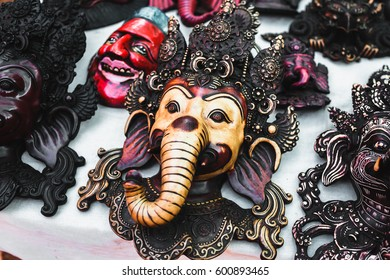 India - traditional mask, wood carving