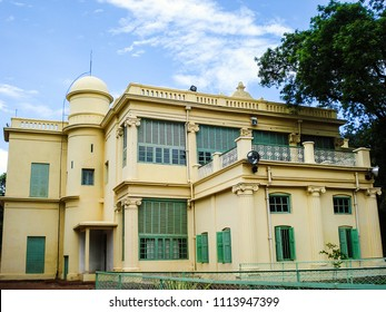 India, West Bengal, Shantiniketan - 06.13.2013 - This building architecturally embraces three religion Viz Hindus, Muslims and Christians.