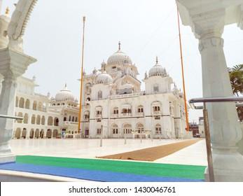 India,Bihar,Patna - April 2019: entrance view Takht Sri Patna Sahib also known as Harmandir