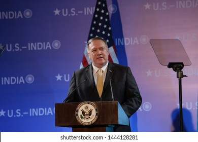INDIA-JUNE,25 2019: US Secretary of State, Mike Pompeo arrived in India to talk on issues related to defence at New Delhi on Tuesday.