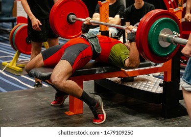 indian athlete powerlifter bench press exercise competition in powerlifting