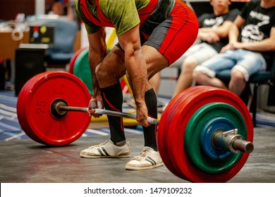 indian athlete powerlifter deadlift exercise competition in powerlifting