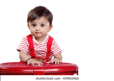 Indian Baby on red tshart