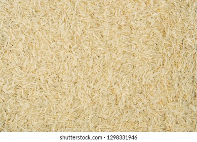 Indian basmati rice background.