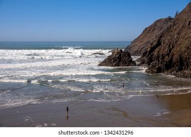 Indian Beach Pacific ocean view Oregon coast.