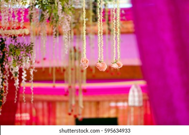 indian beautiful ,stylish and royal  wedding decoration with flowers