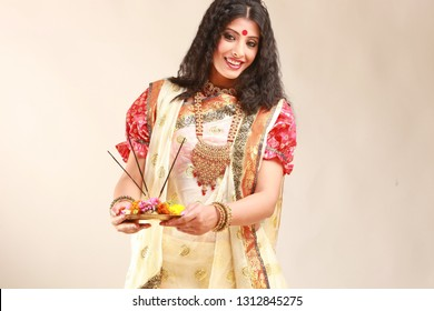 Indian Bengali Traditional Woman