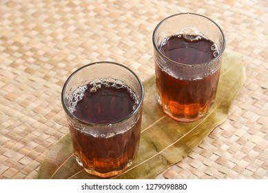 Indian black or red tea a type of tea that is more oxidized, Kerala South India. The Time of Tea Break. Drinking Tulsi or holy basil tea good for heart health, anti- stress.