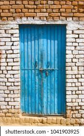 Indian Blue Door