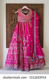Indian bridal ceremony Pink lehenga dress