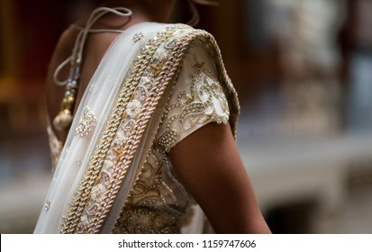 Indian bridal ghoonghat embroidery design