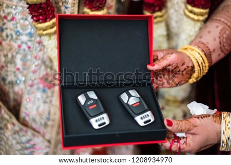 Indian Bridal Present Groom Wedding Car Stock Photo Edit Now