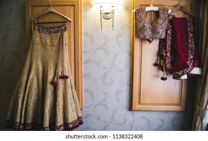 Indian Bridal wedding Lehenga and blouse dress