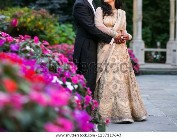 Indian Bride Groom Hugging Her Wedding Stock Photo Edit Now 1237119643