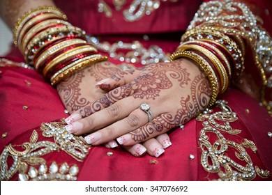 Indian brides hands