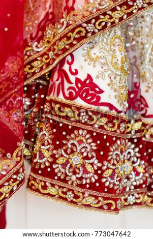 Indian Brides Red White Gold Wedding Stock Photo (Edit Now ...