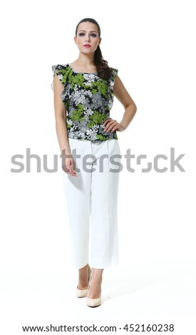 Indian Business Woman Straight Hair Style Stock Photo Edit Now