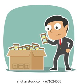 indian businessman choosing hourglass