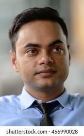 Indian businessman head shot