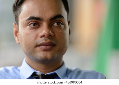 Indian businessman head shot