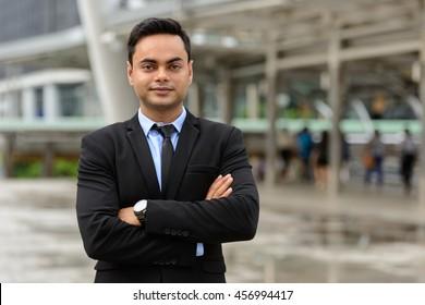 Indian businessman outdoors