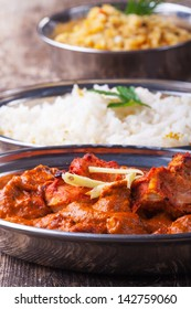 indian chicken tikka masala with rice