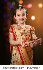 Indian Child in traditional get up