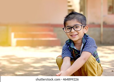 Indian Child wearing eyeglasses
