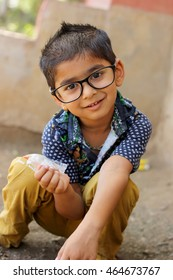 Indian Child wearing glasses