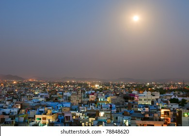 Indian city at night