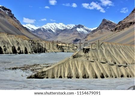 Indian Cold Desert Stock Photo Edit Now 1154679091 Shutterstock