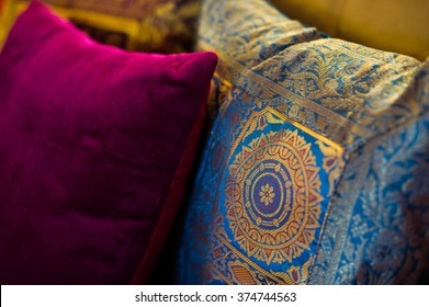 Indian colored pillows