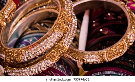 Indian colorful bracelets called Chudi indian language