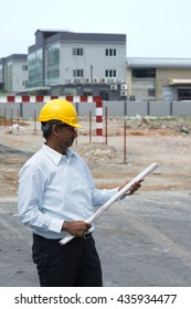 indian construction worker at site