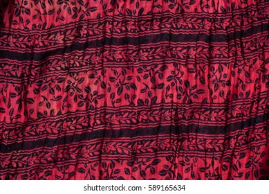 indian cotton fabric detail