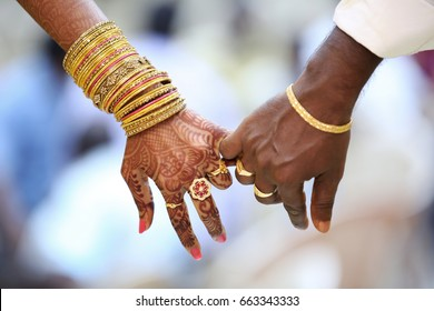 Indian Couple Hands - United together