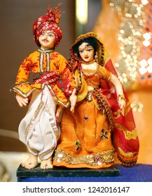 Indian Couple Poppet in a traditional dress