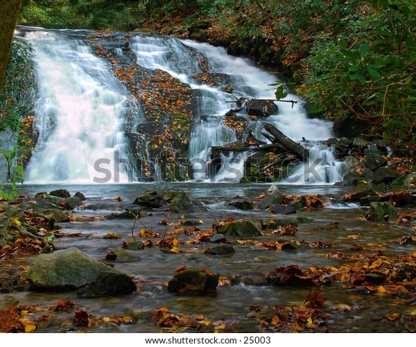 Indian Creek falls North Carolina.