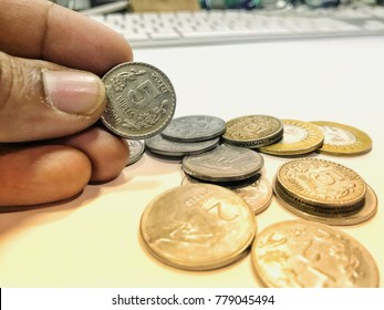 Indian currency coin
