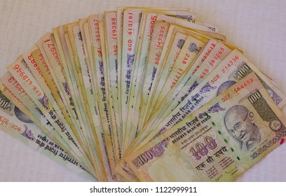 Indian currency notes of Rupees 2000 (INR). Money background.