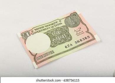 Indian currency One rupee note..